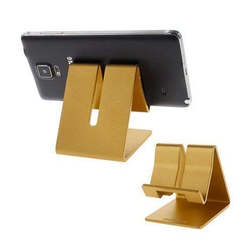 Samdi Metallinen Standi Älypuhelimille Ja Tableteille 7.6 Cm X 6.4 Cm X 7.7 Cm Kulta