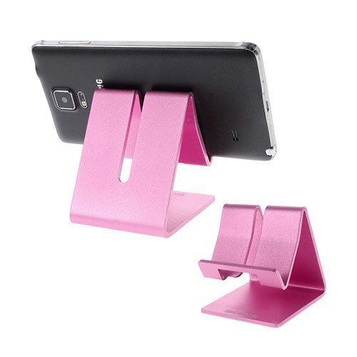 Samdi Metallinen Standi Älypuhelimille Ja Tableteille 7.6 Cm X 6.4 Cm X 7.7 Cm Kuuma Pinkki