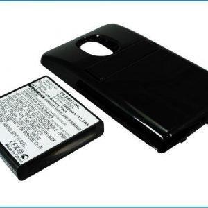 Samsung Epic Touch 4G tehoakku erillisellä laajennetulla mustalla takakannella 3400 mAh