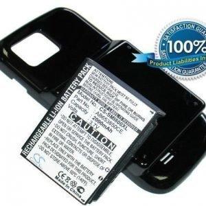 Samsung GT-I8000 GT-I8000H tehoakku laajennetulla takakannella 2000 mAh