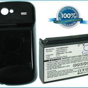 Samsung GT-I9020 GT-I9020T Nexus S Nexus S 4G yhteensopiva akku 2800 mAh laajennetulla takakannella