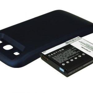 Samsung GT-I9300 GT-I9308 SGH-T999V Galaxy S3 yhteensopiva tehoakku mustalla laajennetulla takakannella 3300 mAh