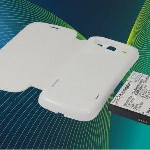 Samsung GT-I9300 GT-I9308 SGH-T999V Galaxy S3 yhteensopiva tehoakku valkoisella laajennetulla takakannella 4200 mAh