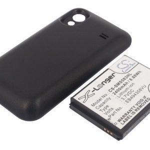 Samsung GT-S5830 tehoakku erillisellä laajennetulla mustalla takakannella 2400 mAh