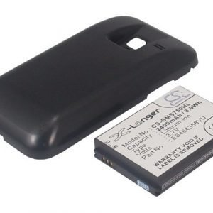 Samsung GT-S7500 Galaxy Ace Plus tehoakku erillisellä laajennetulla mustalla takakannella 2400 mAh