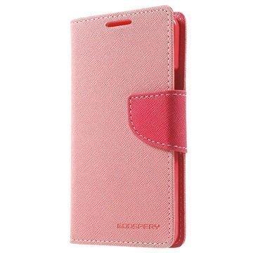 Samsung Galaxy A3 (2016) Mercury Goospery Fancy Diary Lompakkokotelo Pinkki