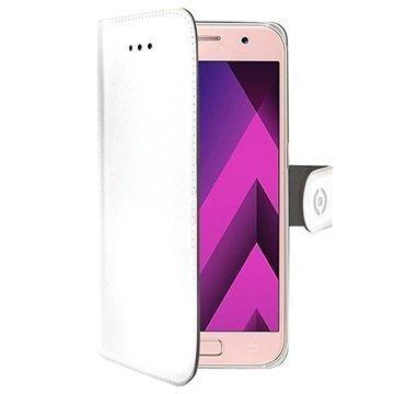 Samsung Galaxy A3 (2017) Celly Wally Lompakkokotelo Valkoinen