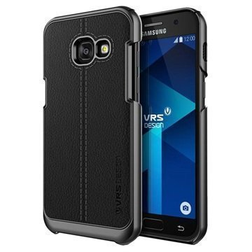 Samsung Galaxy A3 (2017) VRS Design Simpli Mod Leather Case Black