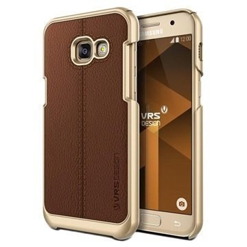 Samsung Galaxy A3 (2017) VRS Design Simpli Mod Leather Case Brown