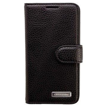 Samsung Galaxy A3 Commander Book Elite Nahkakotelo Musta