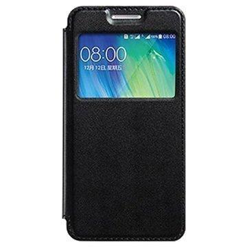 Samsung Galaxy A3 Kalaideng Sun Series View Läppäkotelo Musta