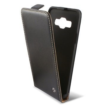 Samsung Galaxy A3 Ksix Vertical Flip Case Black