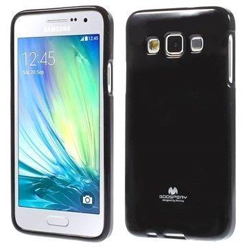 Samsung Galaxy A3 Mercury Goospery TPU Kotelo Musta