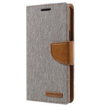 Samsung Galaxy A5 (2016) Mercury Goospery Canvas Diary Lompakkokotelo Harmaa