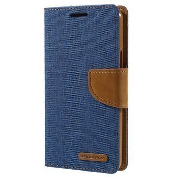 Samsung Galaxy A5 (2016) Mercury Goospery Canvas Diary Lompakkokotelo Sininen