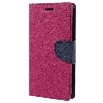 Samsung Galaxy A5 (2016) Mercury Goospery Fancy Diary Lompakkokotelo Kuuma Pinkki