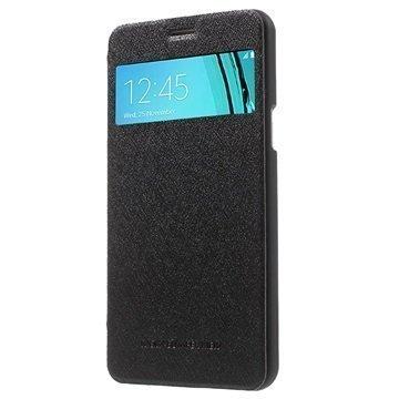 Samsung Galaxy A5 (2016) Mercury Goospery Wow Bumper View Läppäkotelo Musta