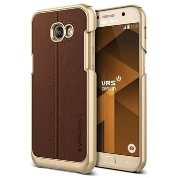 Samsung Galaxy A5 (2017) VRS Design Simpli Mod Leather Case Brown