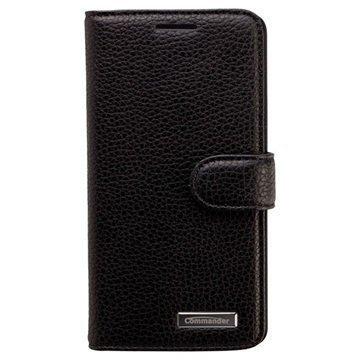 Samsung Galaxy A5 A500 Galaxy A5 Duos Commander Book Elite Nahkakotelo Musta