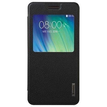 Samsung Galaxy A5 Baseus Primary Color Smart Läppäkotelo Musta