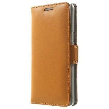 Samsung Galaxy A5 Galaxy A5 Duos Doormoon Nahkainen Lompakkokotelo Oranssi