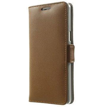 Samsung Galaxy A5 Galaxy A5 Duos Doormoon Nahkainen Lompakkokotelo Ruskea