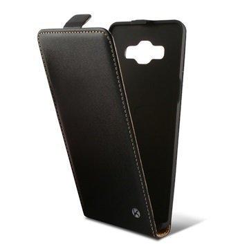 Samsung Galaxy A5 Galaxy A5 Duos Ksix Pystysuuntainen Läppäkotelo Musta