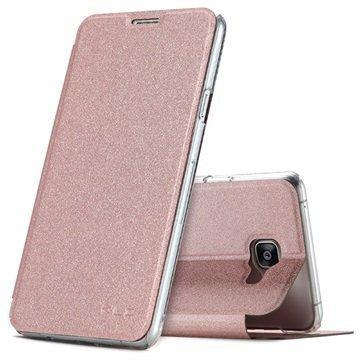 Samsung Galaxy A7 (2016) Kalaideng L Series Läppäkotelo Ruusukulta