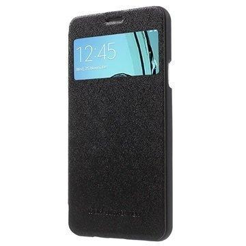 Samsung Galaxy A7 (2016) Mercury Goospery Wow Bumper View Flip Case Black