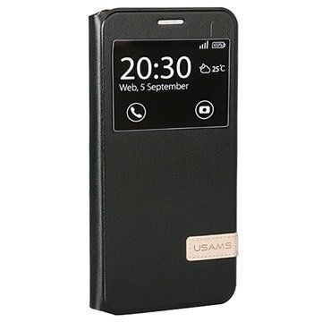 Samsung Galaxy A7 (2016) Usams Muge Series Ikkunallinen Kotelo Musta
