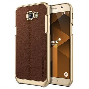 Samsung Galaxy A7 (2017) VRS Design Simpli Mod Leather Case Brown