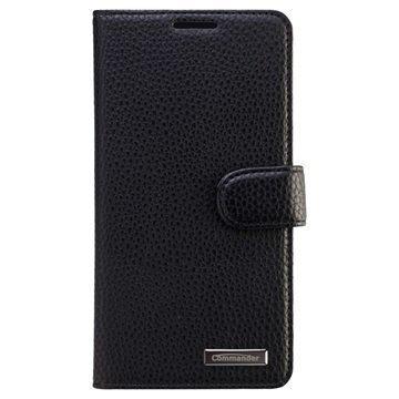 Samsung Galaxy A7 Commander Book Elite Nahkakotelo Musta