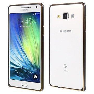 Samsung Galaxy A7 Love Mei Alumiininen Suojakehys Musta