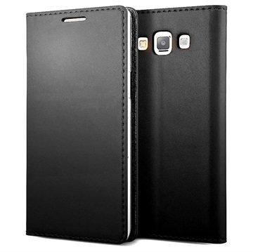 Samsung Galaxy A7 Verus Crayon Slim Series Läppäkotelo Musta