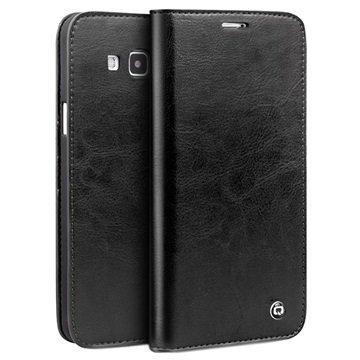 Samsung Galaxy A8 Qialino Classic Lompakkomallinen Nahkakotelo Musta