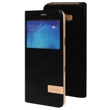 Samsung Galaxy A8 Usams Muge Series Ikkunallinen Kotelo Musta