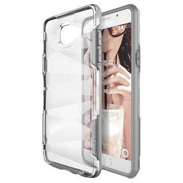 Samsung Galaxy A9 (2016) VRS Design Shine Guard -Sarjan Hybridikotelo Harmaa