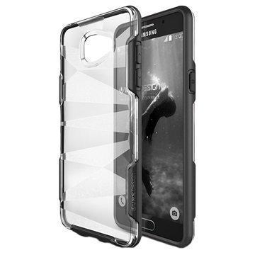 Samsung Galaxy A9 (2016) VRS Design Shine Guard -Sarjan Hybridikotelo Musta