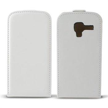 Samsung Galaxy Ace 2 I8160 Ksix Nahkainen läppäkuori Valkoinen