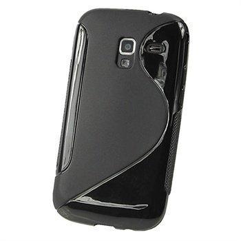 Samsung Galaxy Ace 2 I8160 iGadgitz Kaksivärinen TPU-Suojakotelo Musta