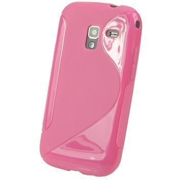 Samsung Galaxy Ace 2 I8160 iGadgitz Kaksivärinen TPU-Suojakotelo Pinkki