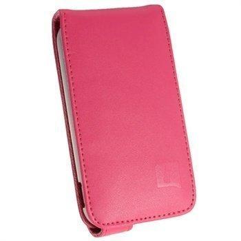 Samsung Galaxy Ace 2 I8160 iGadgitz Nahkainen Läppäkotelo Pinkki