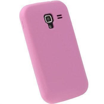 Samsung Galaxy Ace 2 I8160 iGadgitz Silikonikotelo Pinkki