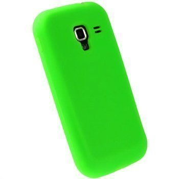 Samsung Galaxy Ace 2 I8160 iGadgitz Silikonikotelo Vihreä