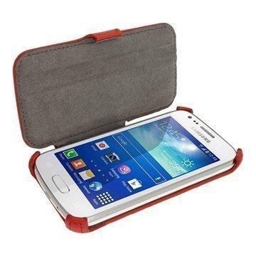 Samsung Galaxy Ace 3 S7270 S7275 iGadgitz Läpällinen Nahkakotelo Punainen