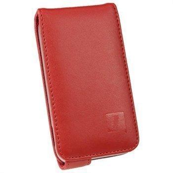 Samsung Galaxy Ace Plus S7500 iGadgitz Leather Flip Case Red