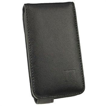 Samsung Galaxy Ace Plus S7500 iGadgitz Nahkainen Flip Âkotelo Musta