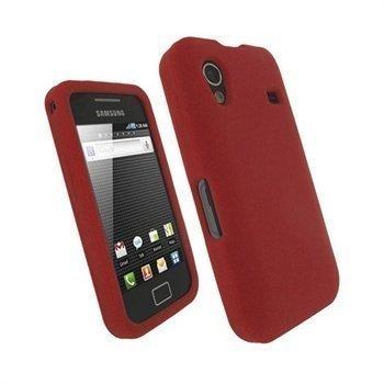 Samsung Galaxy Ace S5830 iGadgitz Silikonikotelo Punainen