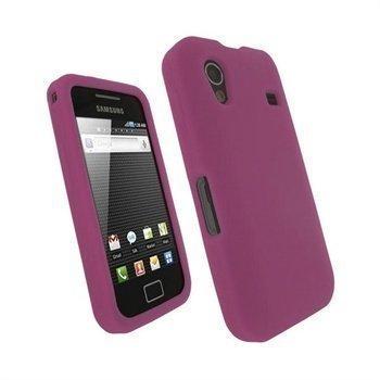 Samsung Galaxy Ace S5830 iGadgitz Silikonikotelo Vaaleanpunainen