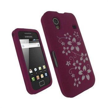 Samsung Galaxy Ace S5830 iGadgitz Silikonikotelo Vaaleanpunainen/Valkoinen